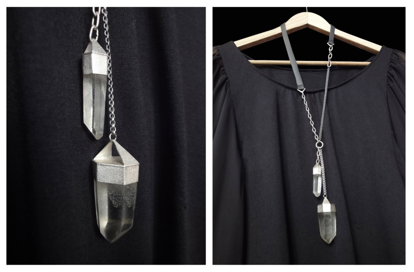 crystal necklace 2 views